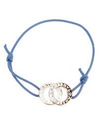 BVLGARI - Blue Logo Plaque Bracelet - Lyst