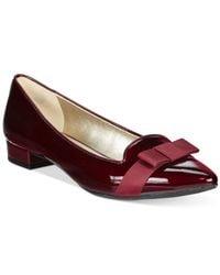Anne Klein | Purple Kyrena Pointed Toe Flats | Lyst