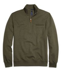 Brooks Brothers | Green Solid Half-zip Pullover for Men | Lyst