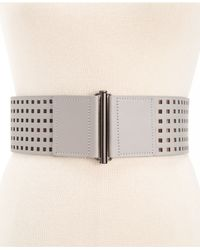 Vince Camuto - Gray Half Caf Stretch Waist Belt - Lyst