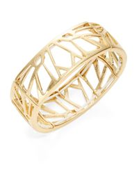 Kenneth Cole | Metallic Golden Cut-out Stretch Bracelet | Lyst