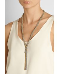 Carolina Bucci | Metallic Braided Goldplated and Silver Necklace | Lyst