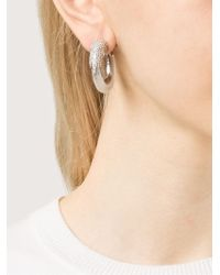 Eddie Borgo | Metallic 'Plume' Hoop Earrings | Lyst