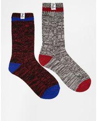 Pringle of Scotland - Blue 2 Pack Boot Socks for Men - Lyst