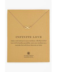 Dogeared | Metallic 'reminder - Infinite Love' Pendant Necklace | Lyst