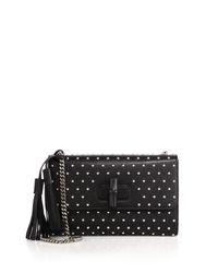 Gucci - Black Miss Bamboo Studded Leather Shoulder Bag - Lyst