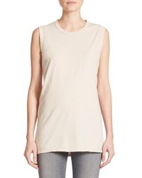 IRO - Natural Leila Shredded Muscle Tee - Lyst