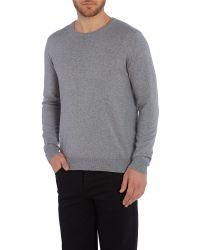 Armani Jeans - Gray Crew Neck Logo Jumper for Men - Lyst