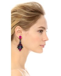 Erickson Beamon - Underground Drop Earrings - Purple Multi - Lyst