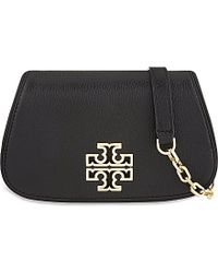 Tory Burch | Black Britten Mini Leather Cross-body Bag | Lyst