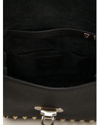 Valentino - Black Rockstud Cross Body Bag - Lyst