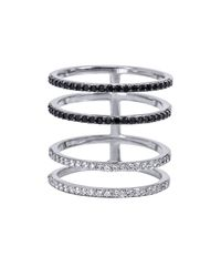 Khai Khai | White Four Layer Ring | Lyst