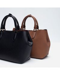 Zara | Brown Basic City Bag | Lyst