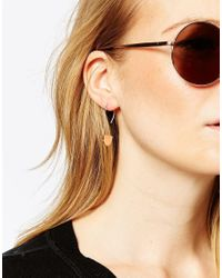 ASOS | Metallic Limited Edition Semi Circle Through Earrings | Lyst