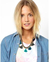 ASOS - Blue Mini Jewel Choker Necklace - Lyst