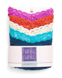 Hanky Panky | Blue Thong | Lyst