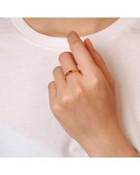 Mabel Hasell Jewellery - Metallic Gold Plated Baguette Ruby Ring - Lyst
