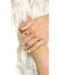 Blanca Monros Gomez - Metallic Large Aura Solitaire Ring - Rose Gold/Black Diamond - Lyst