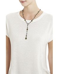 BCBGMAXAZRIA - Metallic Dainty Naturalstone Necklace - Lyst