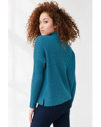 BDG - Blue Waffle Stitch Mock-neck Sweater - Lyst