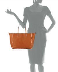 Valentino - Brown Rockstud Medium Reversible Tote Bag - Lyst