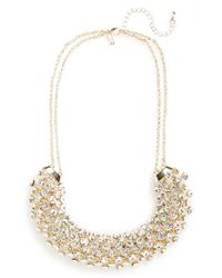 TOPSHOP - Metallic Rhinestone Collar Necklace - Lyst