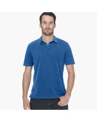 James Perse Blue Sueded Jersey Polo for men