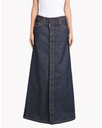 DSquared² | Blue Malaika Long Skirt | Lyst