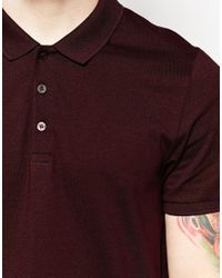 ASOS - Gray 2 Pack Jersey Polo Shirt Save 15% In Grey/burgundy for Men - Lyst