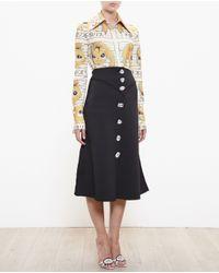 Awake - Black Midi Skirt With Gems - Lyst
