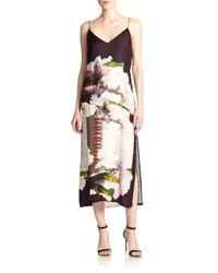 Rebecca Minkoff - Multicolor Martina Silk Printed Maxi Dress - Lyst