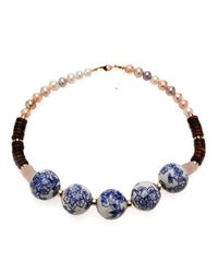 Lizzie Fortunato | The New Blue Necklace | Lyst