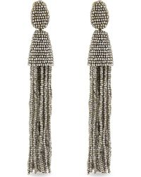 Oscar de la Renta | Natural Bead Tassel Earrings - For Women | Lyst