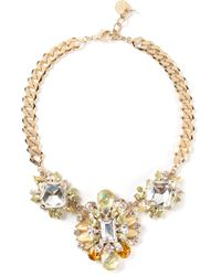 Marina Fossati - Metallic Embellished Necklace - Lyst