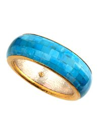 Gurhan | Blue Embrace Turquoise 24k Gold Bangle Bracelet | Lyst