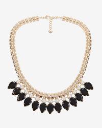 Ted Baker | Black Teardrop Crystal Necklace | Lyst