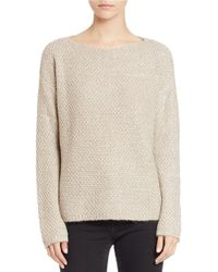 Lord & Taylor | Natural Textured Knit Sweater | Lyst
