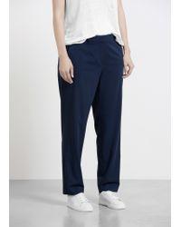 Violeta by Mango | Blue Belt Suit Trousers | Lyst
