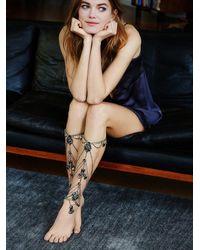 Free People - Black Grace Bijoux X Womens Donatella Leg Chains - Lyst