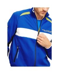 Ralph Lauren - Blue Color-blocked Track Jacket for Men - Lyst