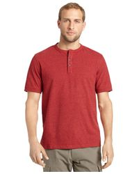 G.H. Bass & Co. - Heathered Henley T-shirt for Men - Lyst