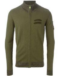 DIESEL - Green Zip Cardigan for Men - Lyst