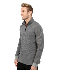 Robert Graham - Gray Comstock Long Sleeve Knit Pullover for Men - Lyst
