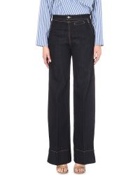 Vivienne Westwood Anglomania | Blue Vader Wide-leg High-rise Jeans | Lyst