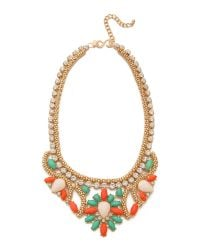 Kenneth Jay Lane | Multicolor Crystal Woven Necklace | Lyst