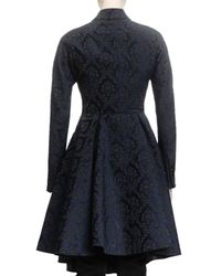 Givenchy - Blue Damask Jacquard Peplum Coat - Lyst