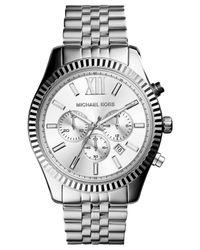 Michael Kors - Gray Men'S Chronograph Lexington Stainless Steel Bracelet Watch 45Mm Mk8405 - A Macy'S Exclusive for Men - Lyst