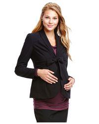 Jessica Simpson - Black Maternity Tie-Front Blazer - Lyst