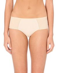Chantelle | Natural C Ideal Mesh Hipster Shorts | Lyst