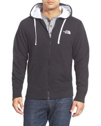 The North Face | Black Zip Front Hoodie for Men | Lyst